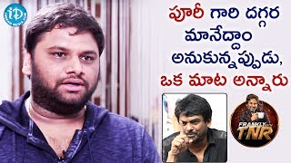 Editor SR Shekhar About Puri Jagannadh || Frankly With TNR || Talking Movies With iDream