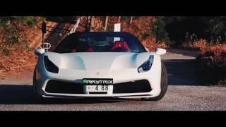 Ferrari 488 Spider   Armytrix Titanium Exhaust   HRE Wheels in Japan