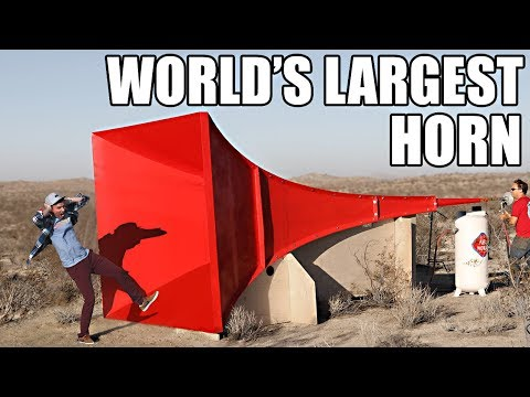 World s Largest Horn Shatters Glass