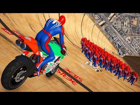 GTA 5 Spiderman Motorcycle Fails Ragdolls Euphoria Physics Crashes Funny Moments