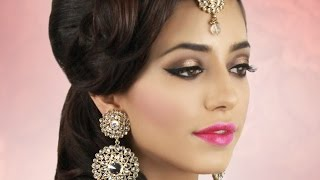 Soft Brown and Gold Asian Bridal Makeup