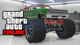 GTA 5 Online - How To Store The MARSHALL MONSTER TRUCK In Your Garage Online! (GTA 5 Glitches)