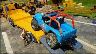 Download BRUDER TOYS news 2016 Jeep RACE and slowmo river crash! 3Gp Mp4