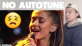 Ariana Grande's REAL VOICE (WITHOUT AUTO-TUNE) REACTION!