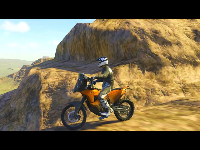 The CREW Wild Run /// PS4 \\\ EPIC ROUTE ON THE VOLCANO WITH THIS DAKAR BIKE