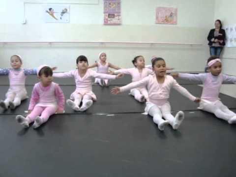Projeto Na Pontinha dos Pés Amostra de aula do ballet