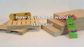 How to make a wooden fingerboard obstacle