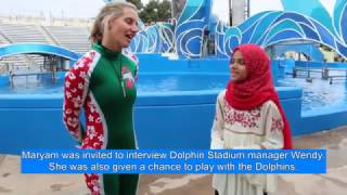 Maryam is in the Dolphin Stadium, San Diego, USA