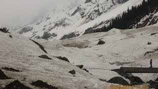 Thajiwas Glacier - Main Tourist Attraction of Sonamarg, Kashmir, India HD Video