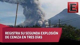 Alerta en Chiapas por actividad de volcán Santiaguito