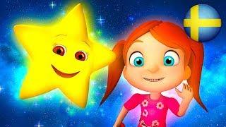 Blinka Lilla Stjärna Där | Svenska Barnsånger | Förskola Låtar |Barnmusik |Barnrim