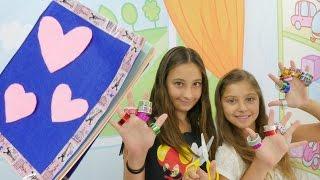 Polen ve Jasmin seyahat günlüğü yapıyorlar. El yapımı günlük. #Kızoyunları - Ah Cici Kız