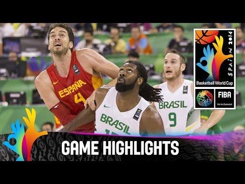 watch Brazil v Spain - Game Highlights - Group A - 2014 FIBA Basketball World Cup