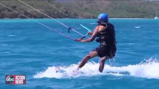 Former President Obama Kitesurfing