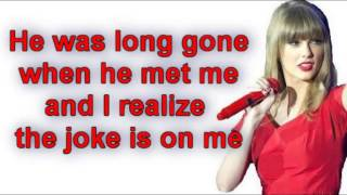 Taylor Swift  I Knew You Were Trouble Lyrics Video