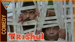 Trishul Hindi Dubbed Movie || Chiranjeevi And Brahmanandam Comedy Scene || Eagle Hindi Movies
