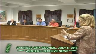 Canfield City Council Holly Carpenter asks for City Take over  Street