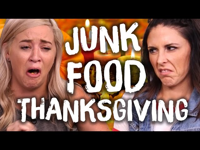 Gross Thanksgiving Junk Food (Cheat Day)