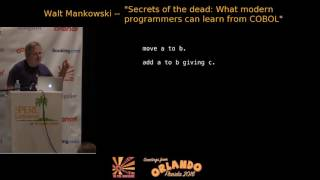 2016 - ‎Secrets of the dead: What modern programmers can learn from COBOL‎ - Walt Mankowski