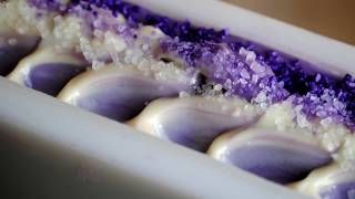 Making and Cutting of Amethyst ~ A cold process soap