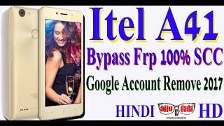 Itel A41 Bypass Frp 100% SCC Google Account Remove 2017