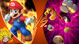 MARIO vs RAYMAN! Cartoon Fight Club Episode 64 REACTION!!!