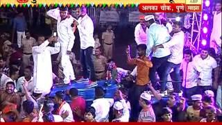 Pune: Alka Chowk: ganesh visarjan and dhol tasha 10pm