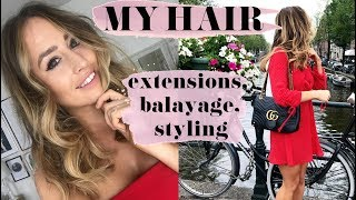 MY HAIR - EXTENSIONS, BALAYAGE, STYLING | SOPHIE MILNER | FASHION SLAVE