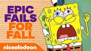 🤣 Epic Fails For Fall 🍂 ft. SpongeBob SquarePants & The Loud House | #TryThis