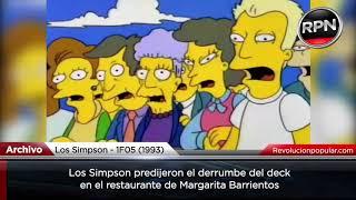 Los Simpson predijeron el derrumbe del restaurante de Margarita Barrientos
