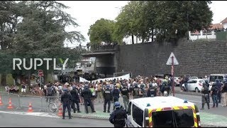 LIVE: March against police takes place in Hendaye as G7 continues