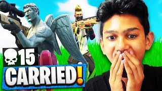This Kid CARRIED Me to a Victory Royale! (Fortnite Random Duos)