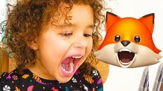 Toddler Reacts to Funny Animoji