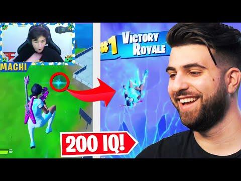 Reacting to 200 IQ Fortnite Plays