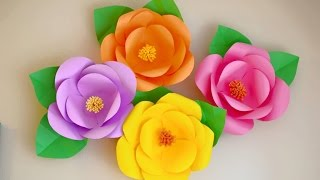 Flores Gigantes de Papel facil y economicas