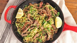 Zoodles with Beef Tips Stir Fry Recipe   Ep. 1284