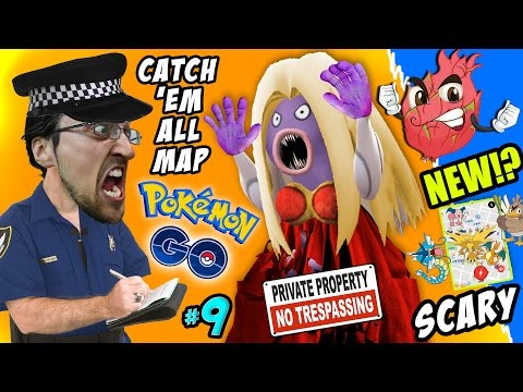 Pokemon Go TRESPASSING!! How To Catch 'Em All Map + Scary Jynx Encounter w/ FGTEEV Fam New Creature?