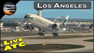 Flight Simulator | X-Plane 11 | LAX Airport with Live ATC and Airline Flight Schedules