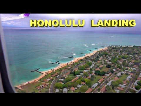 Landing in Honolulu, Hawaii -  Hawaiian Airlines, Airbus A330, 2016 4K