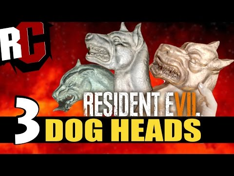 Resident Evil 7 - All Dog Head Locations (How to escape to the yard and find all Dog's Heads)