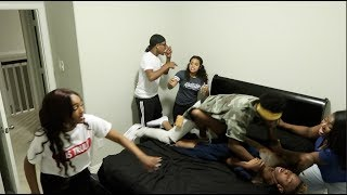 CAUGHT IN BED HAVING A 4SUM WITH AIRI, CARMEN, & NIQUE PRANK ON COREY & KING!!
