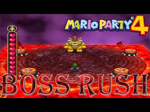 Mario Party 4 Boss Rush All Story Minigames No Damage