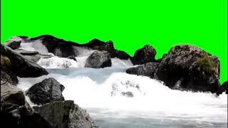 Green screen air terjun