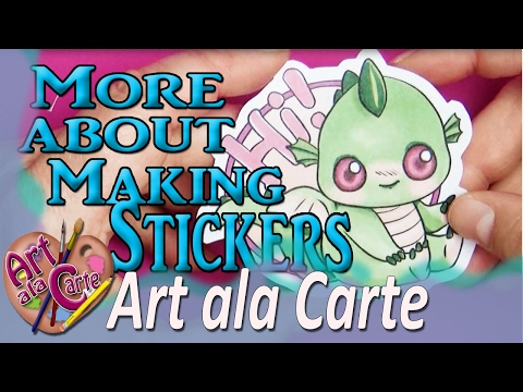 Answering Questions about making stickers