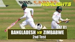 Bangladesh vs Zimbabwe Highlights || 2nd Test || Day 1 || Zimbabwe tour of Bangladesh 2018