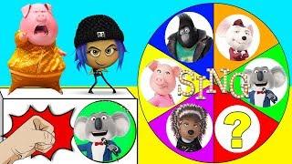 The Sing Movie Spin the Wheel Game with The Emoji Movie Hi-5, Jailbreak, Paw Patrol | Ellie Sparkles
