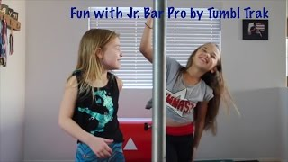 Learning new skills on my Jr. Bar Pro by Tumbl Trak | Hunter in the Gym