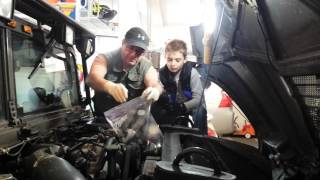 Kurt learning to change the fuel filter