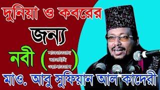 দুনিয়া ও কবরের জন্য নবী (দঃ) | Bangla Waz | Mawlana Abu Sufian | Azmir Recording | 2018