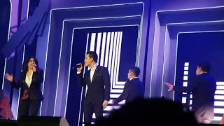 """"""" Opening Medley """" #PAMORE @ MOA on February 10 , 2018 sung by Martin, Ogie, Regine and Erik"""